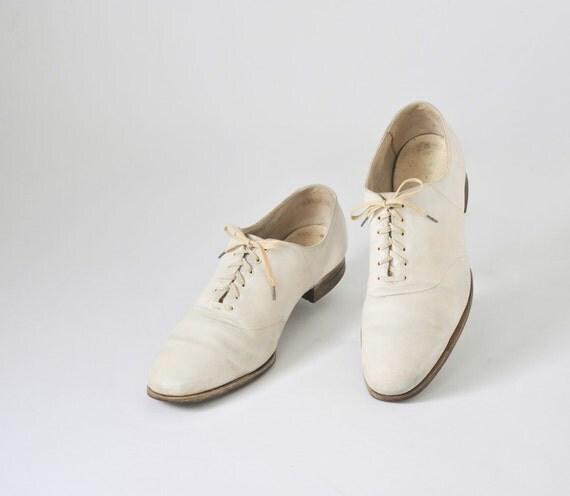 The Great Gatsby Original 1930's Men's White Bucks - Men's Wedding Shoes