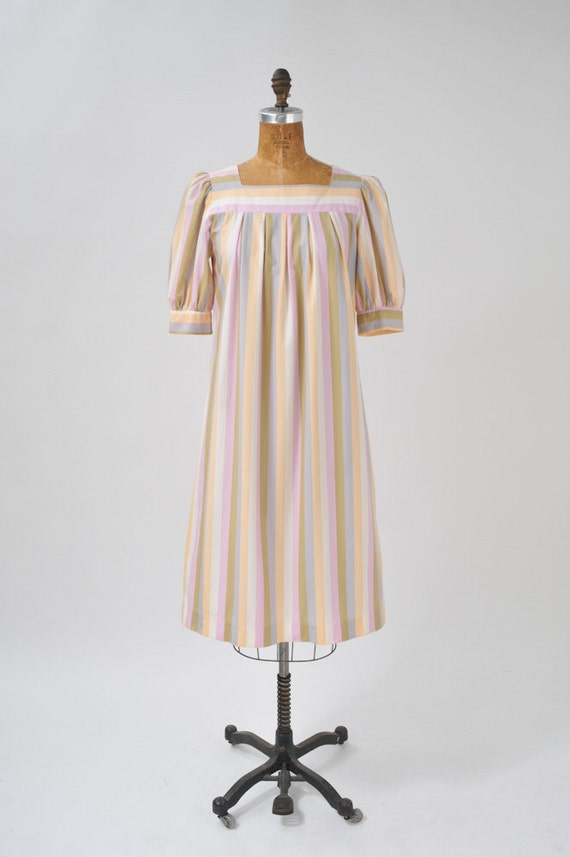 1960's Pastel Striped Smock Dress