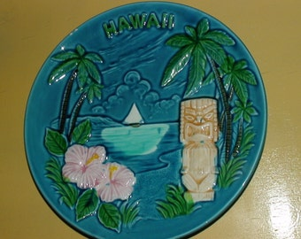 Souvenir  Plate of hawaii for your tiki bar