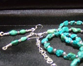 Custom Order Thank You for L.T. B Grade Turquoise Nugget Sterling Earrings