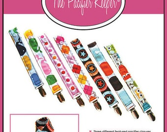 INSTANT Download -The Pacifier Keeper - PDF Sewing Pattern with BONUS Fabric Guide Ruler