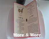 Custom Fold Layered Wedding Program Book with Ribbon Tie - Set of 75
