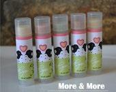 Wedding Favors - Lip Balms - Set of 100 - Choose Flavor and Design