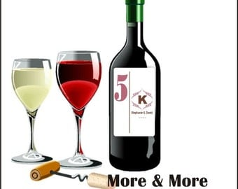 Custom Wine Labels Wine Bottle Labels Table Numbers Bridal Shower Gifts - Personalized Wine Labels Wedding Favors Bridesmaid Gifts