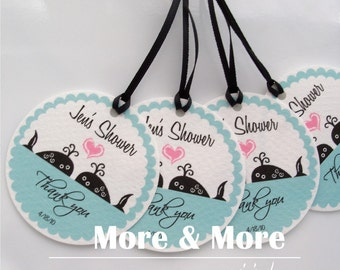 Custom Wedding Tags - Personalized 2.25inch Circle Tags - Set of 120 - Bridal Shower Tags - Thank You Tags - Custom Favor Tags - Welcome Tag