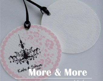 Personalized 2.25inch Circle Tags - Set of 60 - Weddings - Bridal Shower - Thank You - Favor Tag