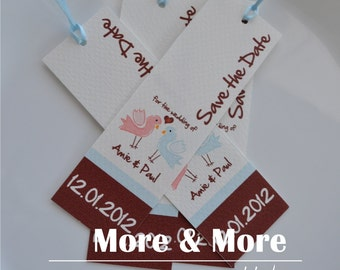 Save the Date Bookmarks - Set of 50 with Envelopes