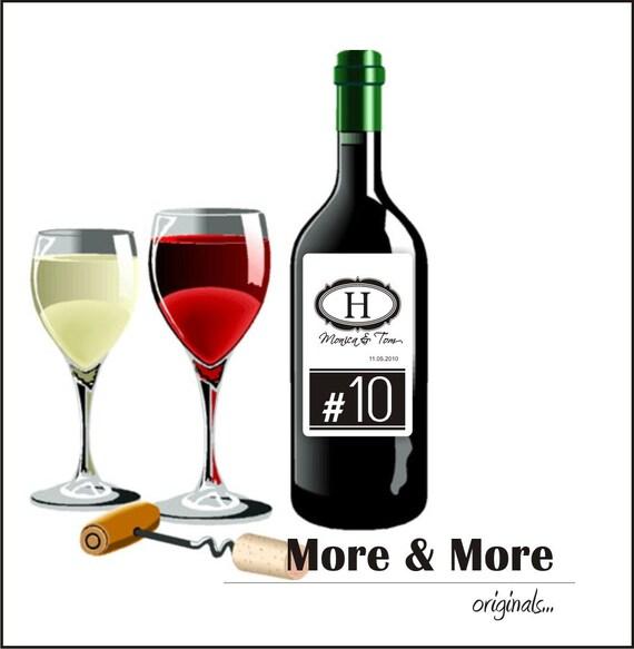 Wine Labels - Set of 15 3x5inch Wine Bottle Labels - Wedding Wine Labels - Bachelorette Party Favors - Custom Wine Labels