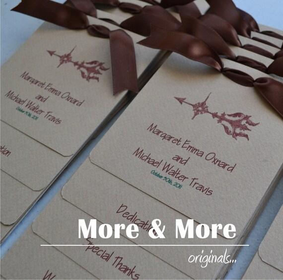 Custom Layered Wedding Programs - Set of 50