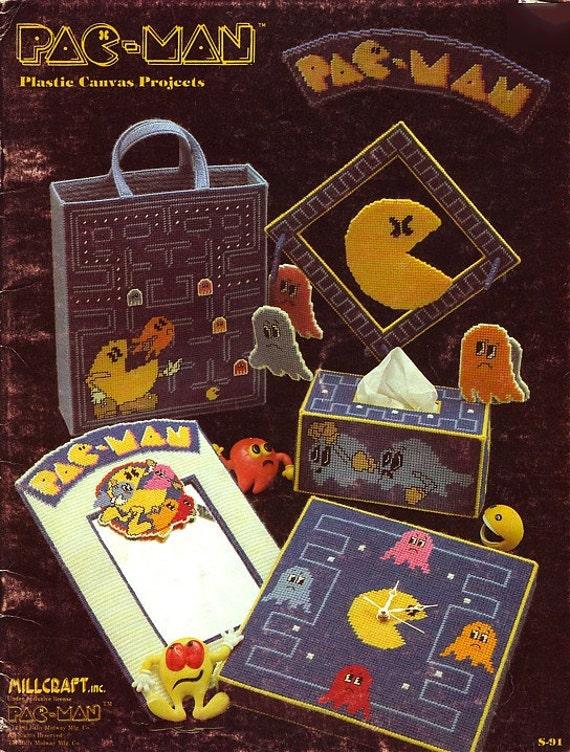 Vintage Pac Man Plastic Canvas Pattern Book
