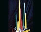 Hand Dipped 18 inch Beeswax Candles. Burn long, bright, and dripless
