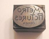 Vintage Letterpress Printer's Block - Metro Pictures Corp