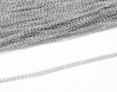 10 ft - Twist Chain, Lead Free and Nickel Free, Silver Plated, Link: 3x1.6x0.5mm