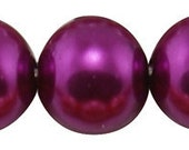 14mm Luscious Wine Glass Pearl Beads - 12 pcs