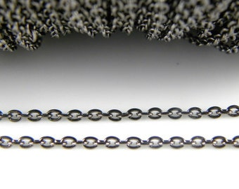 10 ft - Twist Chain, Lead Free and Nickel Free, Gun Metal,  Link:3x4mm, 0.7mm thick