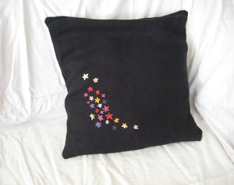 Sale- was 31 USD now 24 USD - Embroidered pillow cover - set of flower