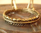 Vintage Feather Bangle Bracelet