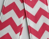 Camera Strap Cover- lens cap pocket and padding included- Pink Chevron