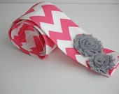 DSLR Camera Strap Cover- lens cap pocket and padding included- Shabby Chic Pink Chevron Floral