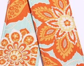 DSLR Camera Strap Cover- lens cap pocket and padding included- Ornate Floral