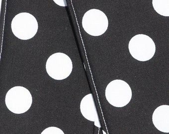 Camera Strap Cover- lens cap pocket and padding included- Black Dot