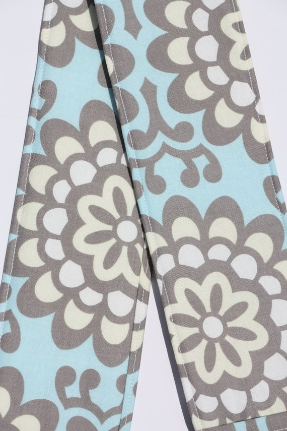 Camera Strap Cover- lens cap pocket and padding included- Wallflower Sky Blue
