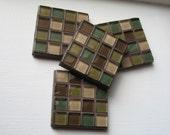 SALE - LAST ONE - Chocolate Teal Coasters (Set of 4)