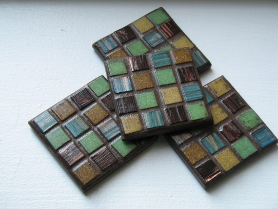 Chocolate Lime Metallic Coasters (Set of 4)