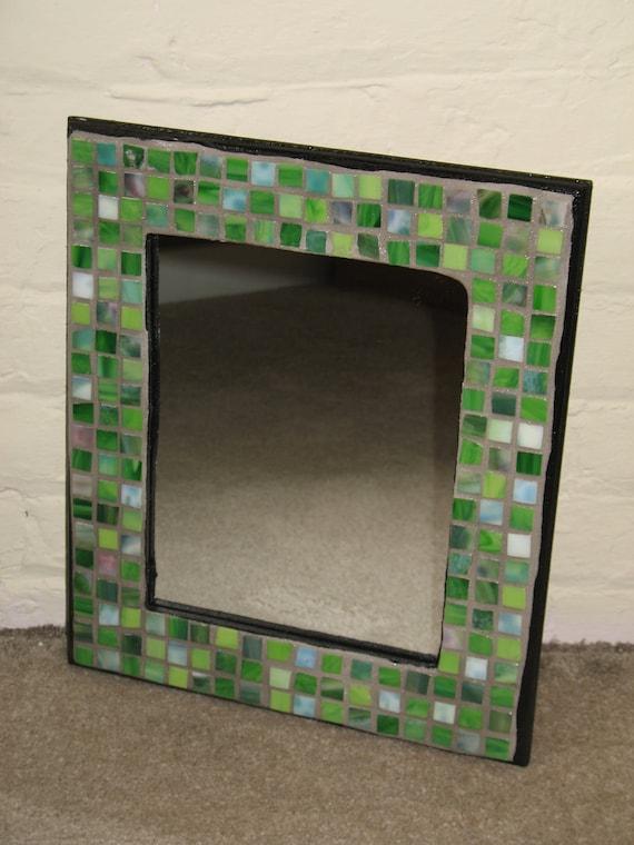 Greens Mosaic Mirror