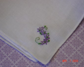 wedding handkerchief, bridesmaid hanky, bouquet wrap, hand embroidered, laceless hanky only, wedding color welcome