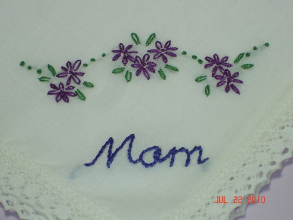 reserved for KATHERINEWedding handkerchief/Mother of bride/groom/wedding colors welcome/hand embroidered/ON SALE