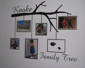 Family Photo Frame tree branch - vinyl wall design