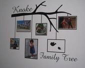 Family Photo Frame tree branch - vinyl wall design