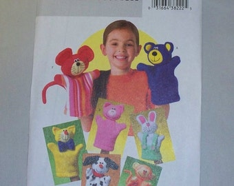 New Butterick Hand Puppet Pattern B4209 ( Free US Shipping )