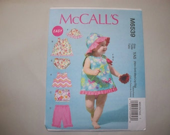 New McCall's  Baby Clothes Pattern, M6539 (Free US Shipping)