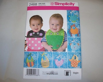 New Simplicity Baby Bib Pattern, 2468  (Free US Shipping)