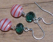SALE Sweet Peppermint and Candy Earrings