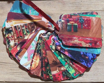 Upcycled Holiday Gift Tags - Traditional Gifts