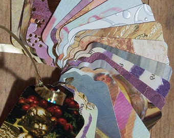 Upcycled Holiday Gift Tags - Angels