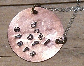Handstamped Custom Constellation Necklace-Bowl of Stars-Southern Crux