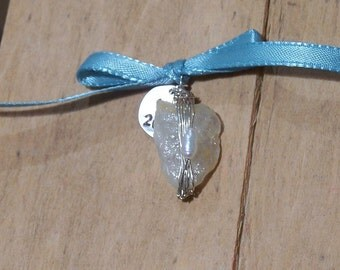 Wire-wrapped Natural River Rock Pendant- SALE