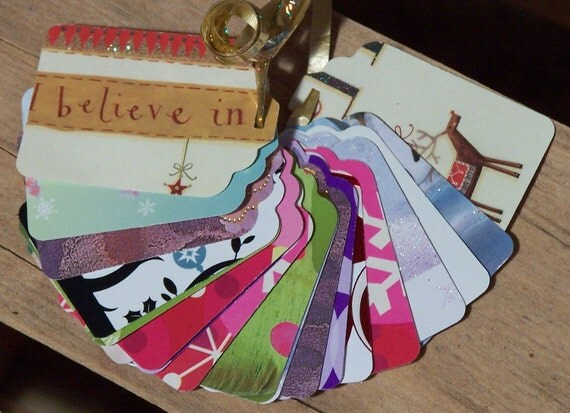 Upcycled Holiday Gift Tags - Whimsical