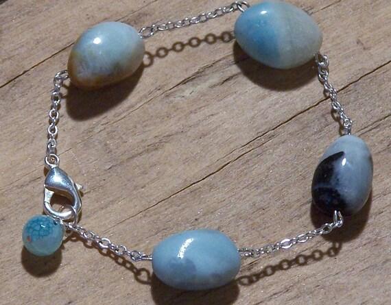SALE Blue Bird Eggs - Bracelet