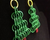Chainmail Christmas Tree Earrings