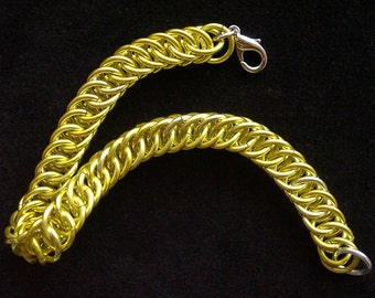 Sunny Yellow Chainmail Bracelet