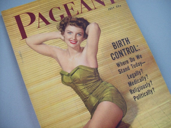 Vintage 50's Pinup Magazine Pageant Girl Birth Control Issue