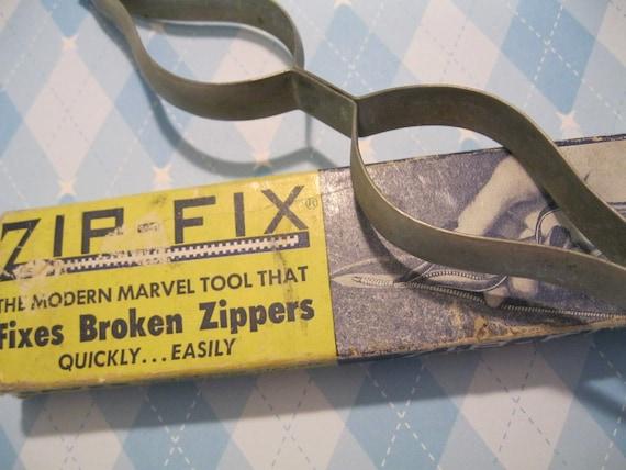 vintage zip fix zipper repair tool. Black Bedroom Furniture Sets. Home Design Ideas