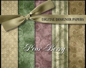 Digital Papers - PEAR BERRY - 12x12 Expertly Designed Photography Backdrops for Photographers and Scrapbookers.