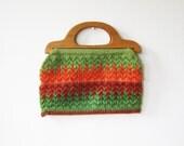 sale vintage 50s tomato garden tapestry bag