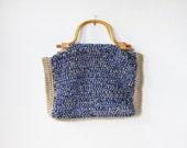 vintage large knitting bag